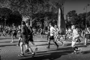 Obelix au Marathon de Paris